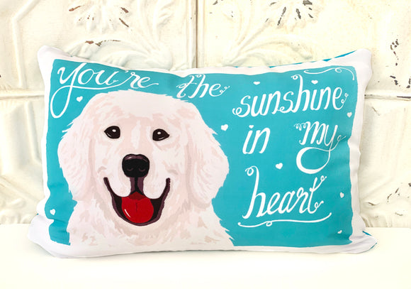 Pyrenees Art Pillow- You're The Sunshine In My Heart