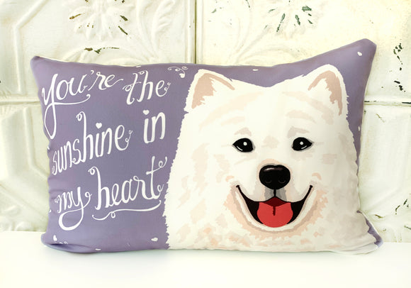 Samoyed Art Pillow - You're The Sunshine In My Heart