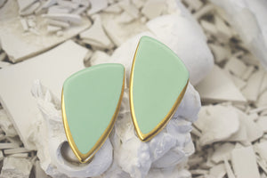 Open image in slideshow, Porcelain earrings #602 + colors
