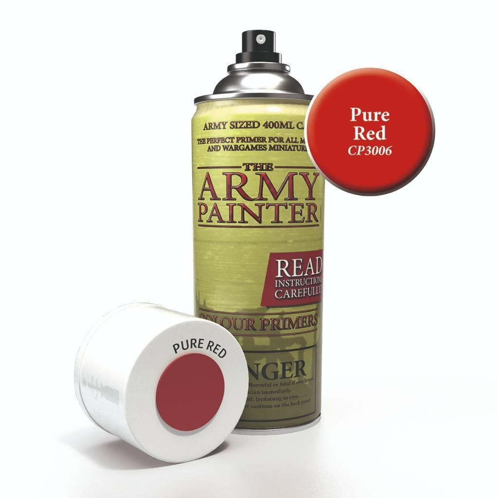 Army Painter Spray Paint Color Primer Pure Red - The Haunted Game Cafe