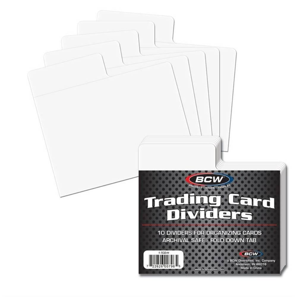 BCW Trading Card Dividers - Horizontal (10ct)