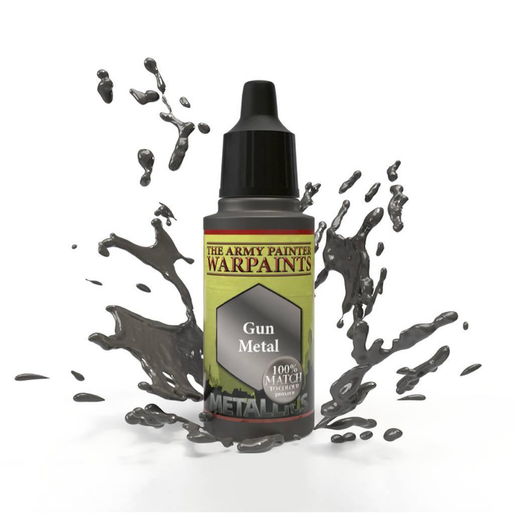 Army Painter Warpaints Metallic Gun Metal - The Haunted Game Cafe