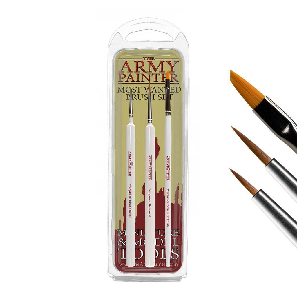 Army Painter Wargamer: Most Wanted Brush Set - The Haunted Game Cafe