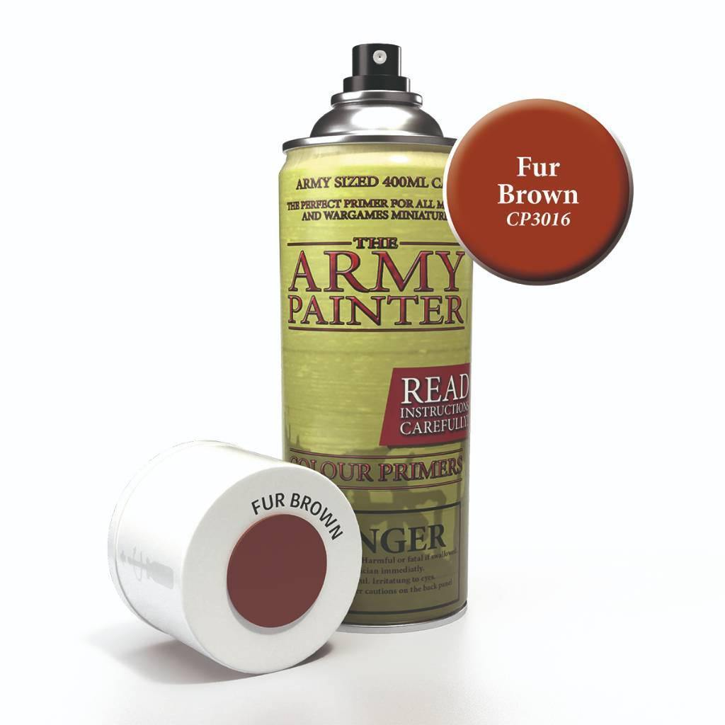 Army Painter Spray Paint Color Primer Fur Brown - The Haunted Game Cafe