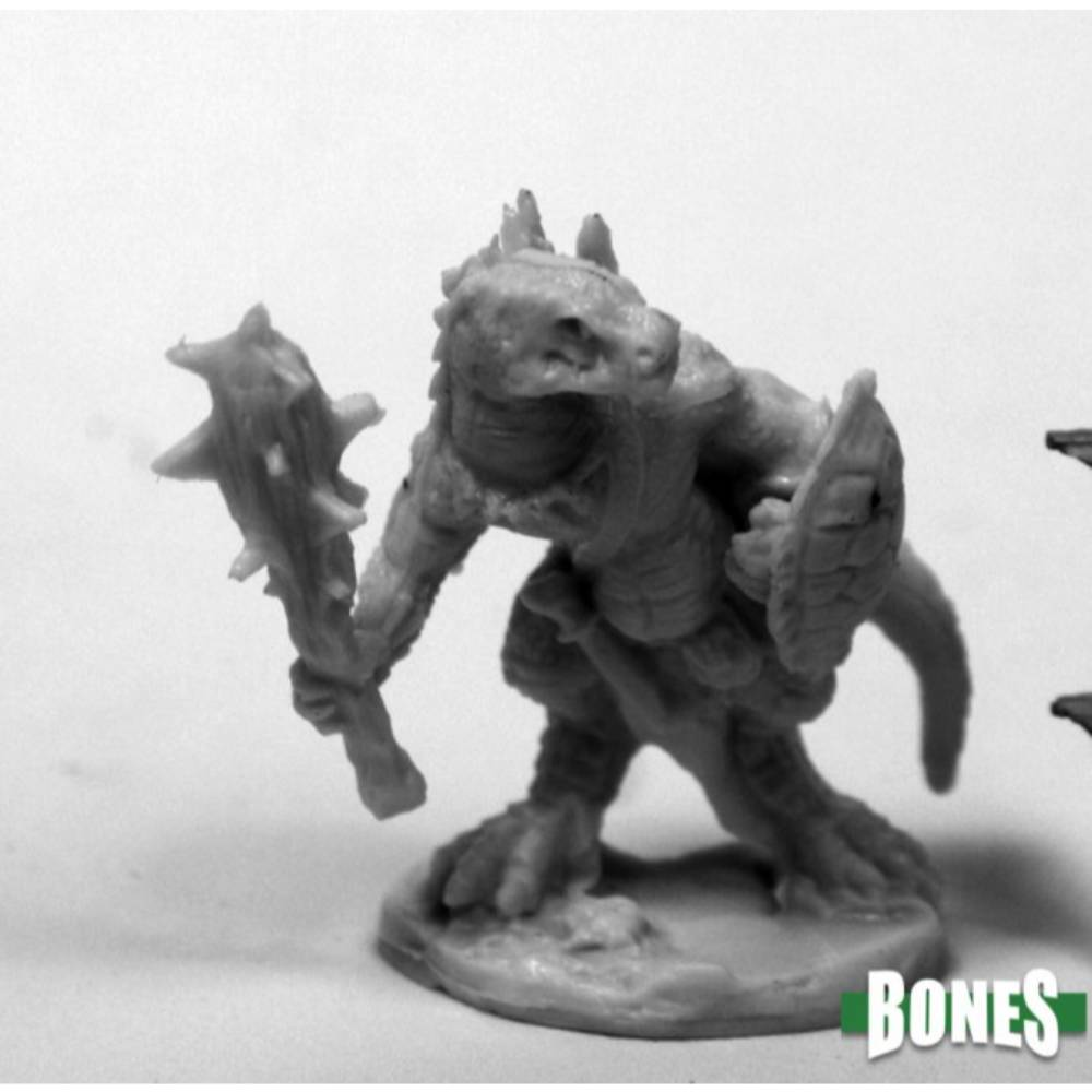 Reaper Dark Heaven: Bones Lizardman with Club and Shield