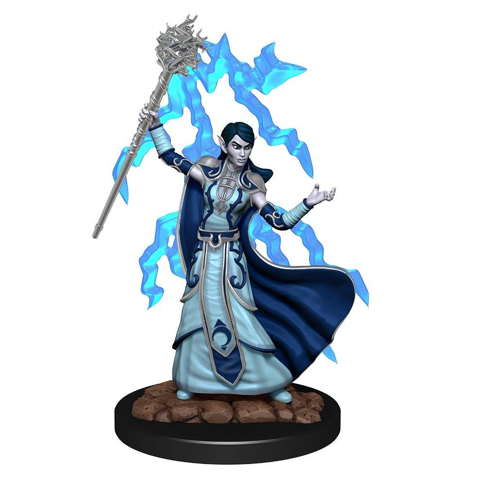 WizKids Pre-Painted D&D Icons of the Realms Premium Figure Elf Wizard (Female) - The Haunted Game Cafe