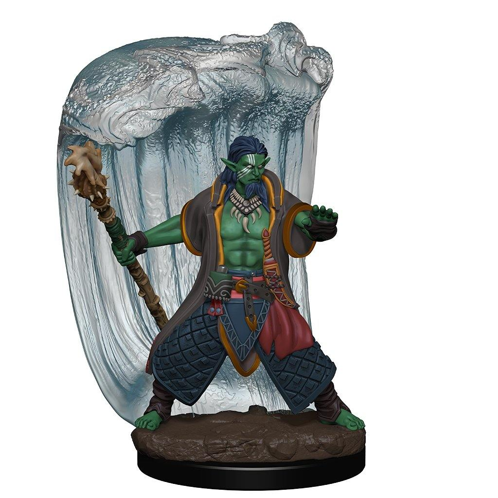 WizKids Pre-Painted D&D Icons of the Realms Premium Figure Water Genasi Druid (Male) - The Haunted Game Cafe
