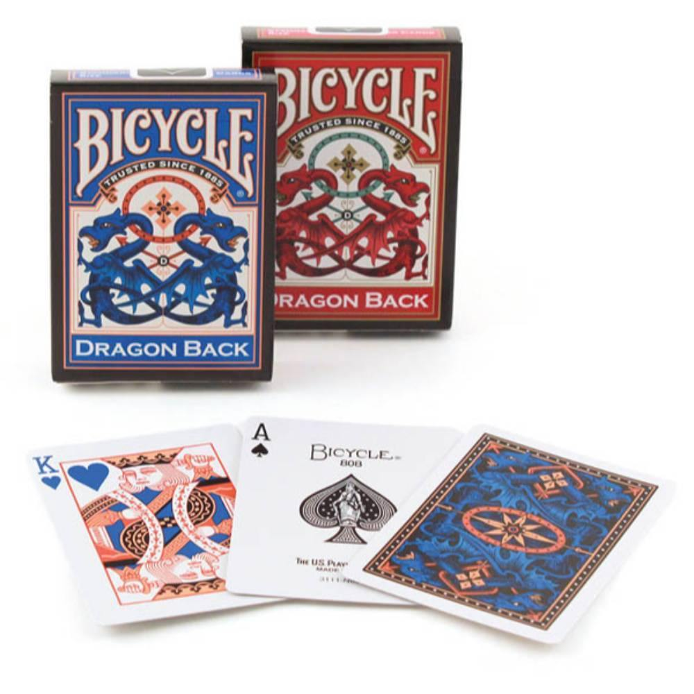Bicycle Dragon Back Playing Cards Red Blue