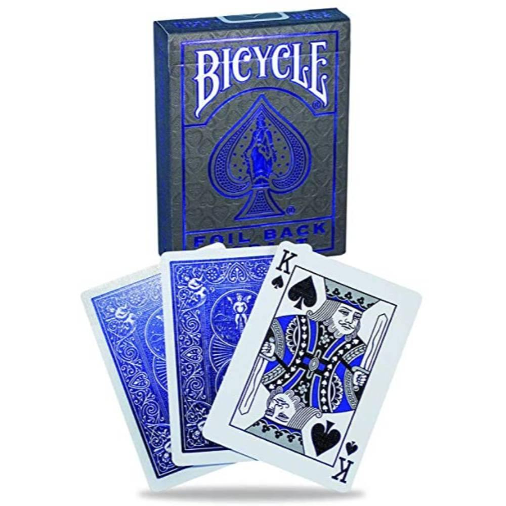 Bicycle Foil Back Cobalt Playing Cards