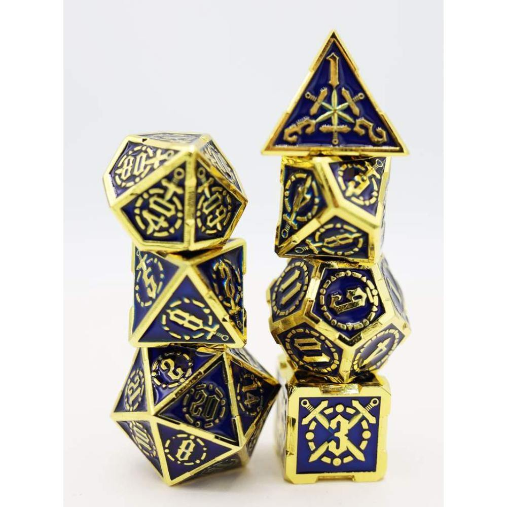 Deep Sea Sword Metal Polyhedral Dice Set (7) - The Haunted Game Cafe