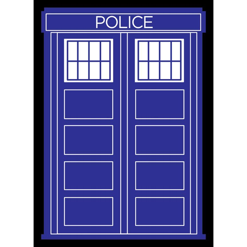 Legion Police Box Black Border Sleeves (50)