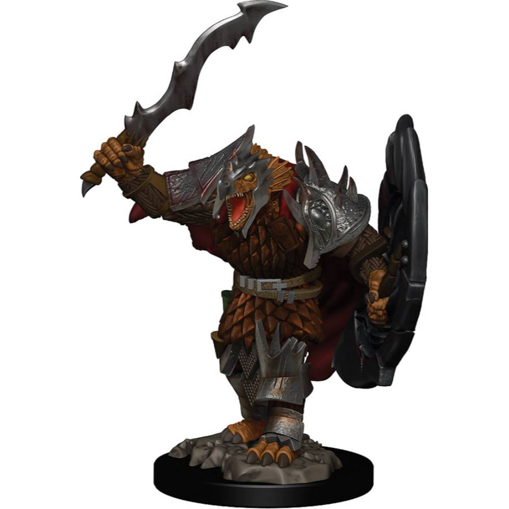 WizKids Pre-Painted D&D Icons of the Realms Premium Figure Dragonborn Fighter (Male)