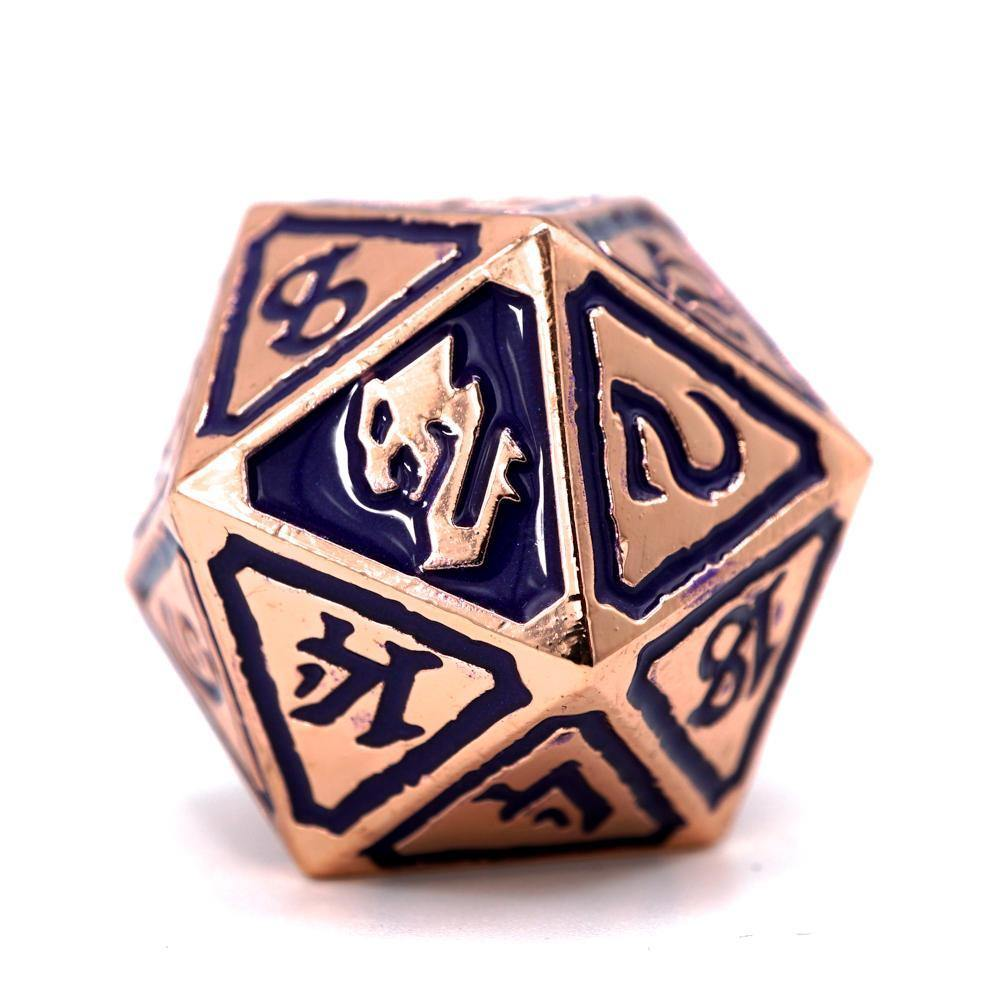 Queens of Gilded Ruin Metal Polyhedral Dice - The Haunted Game Cafe