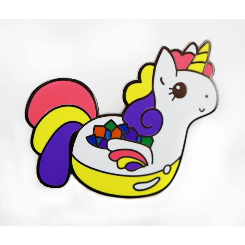 Critter Pins: Sparkles the Adorable Dice Unicorn - The Haunted Game Cafe