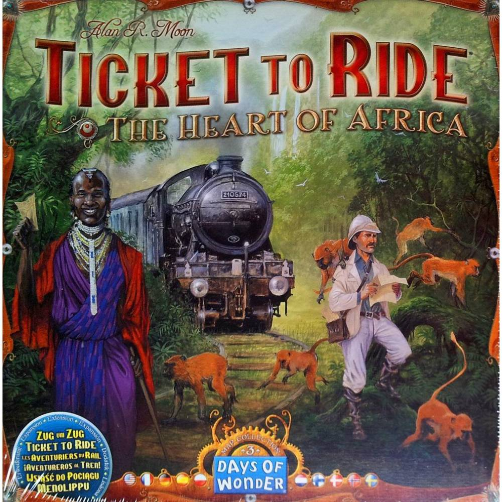 Ticket to Ride Heart of Africa Map Collection Expansion