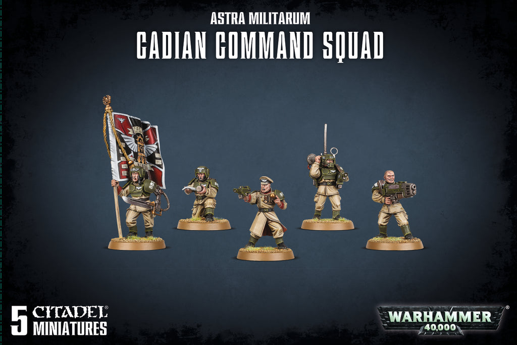 Warhammer 40,000 Astra Militarum Cadian Command Squad