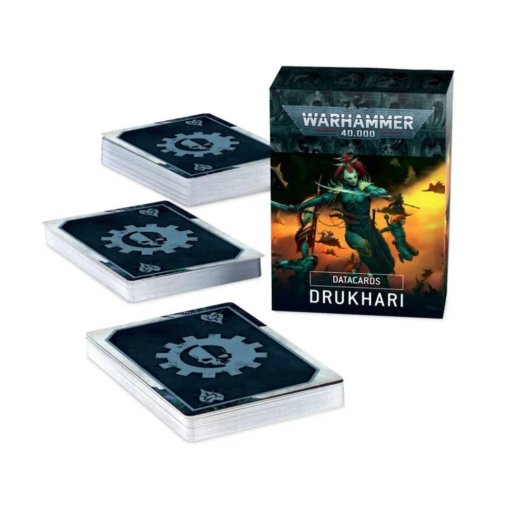 Warhammer 40,000 Dark Eldar Drukhari Datacards - The Haunted Game Cafe