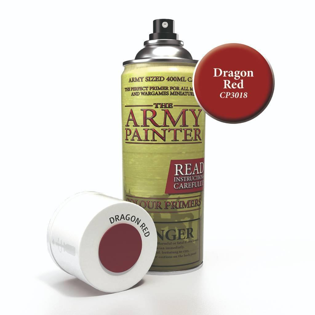 Army Painter Spray Paint Color Primer Dragon Red - The Haunted Game Cafe