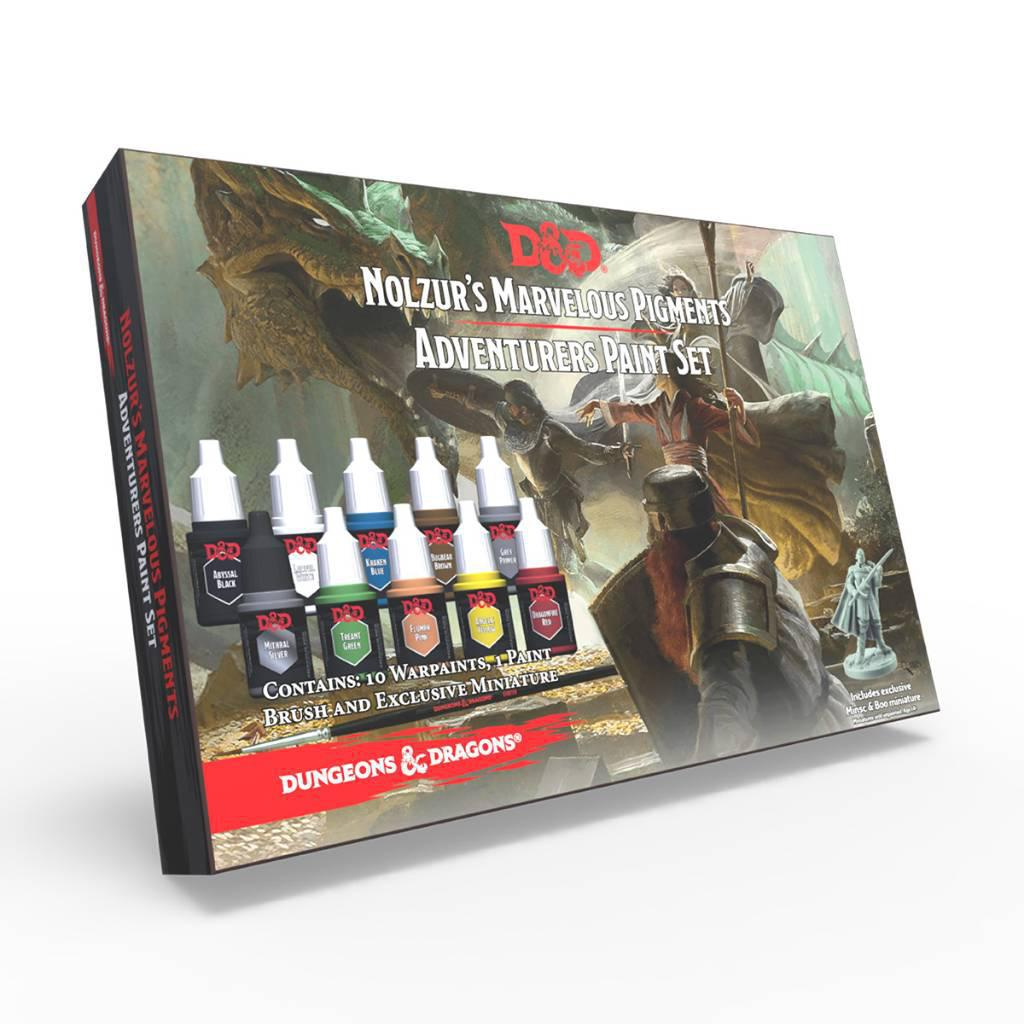 Dungeons and Dragons Nolzur's Marvelous Pigments Adventurers Paint Set