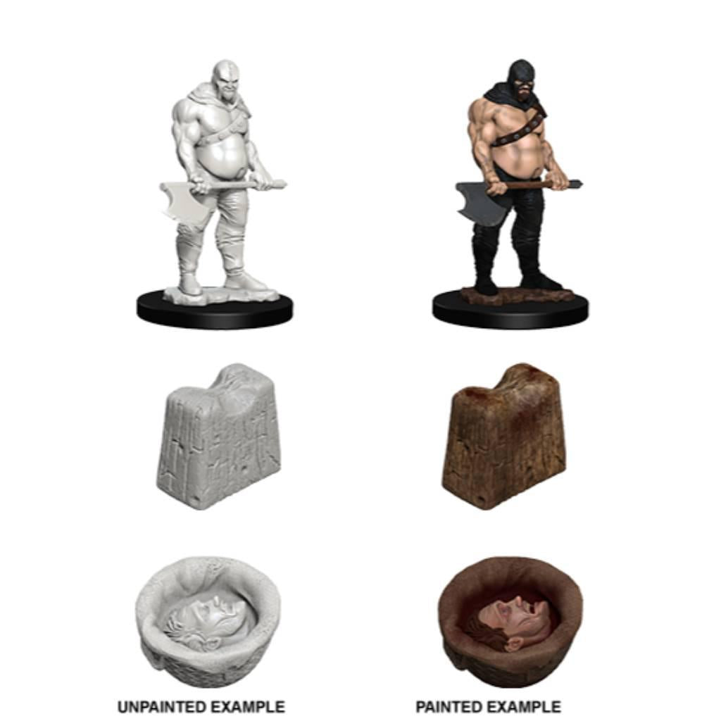WizKids Unpainted Executioner & Chopping Block (3)
