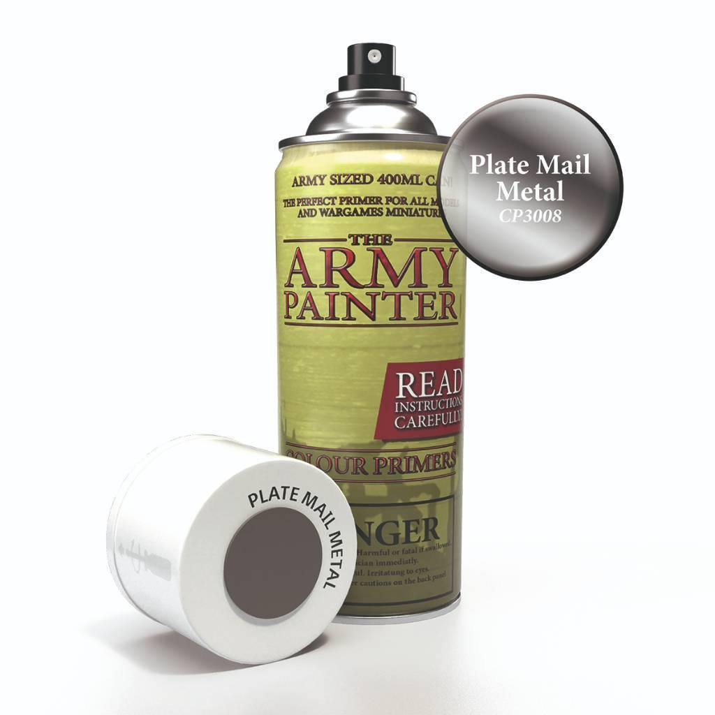 Army Painter Spray Paint Color Primer Plate Mail Metal