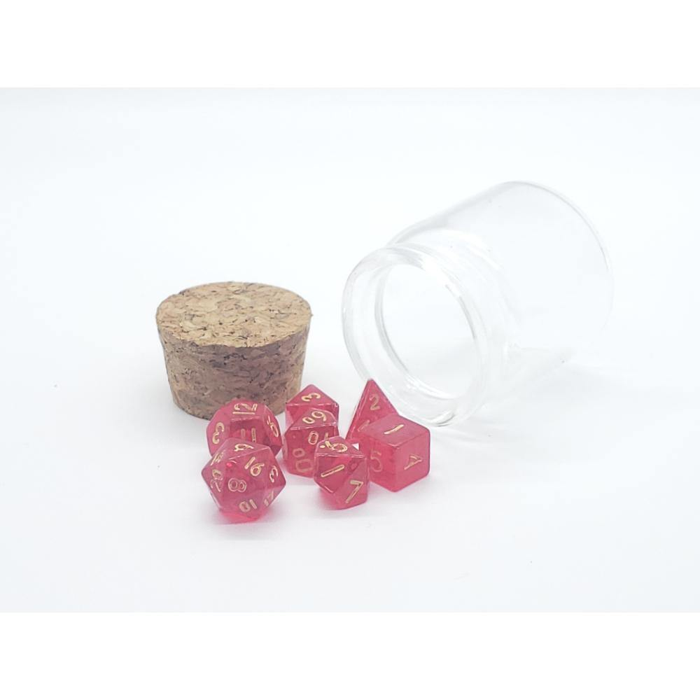 Enchanted Dice Potion Bottle Mini Polyhedral Dice Set (7) - The Haunted Game Cafe