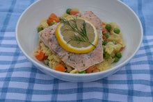 Load image into Gallery viewer, Lemon Parmesan Salmon Orzo