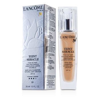 Lancome Face Care Teint Miracle Bare Skin Foundation Natural Light Creator SPF 15 - # 03 Beige Diaphane For Women by Lancome