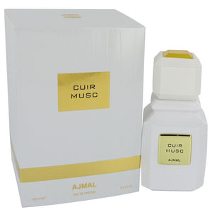 Ajmal Cuir Musc 3.40 oz Eau De Parfum Spray (Unisex) For Women by Ajmal