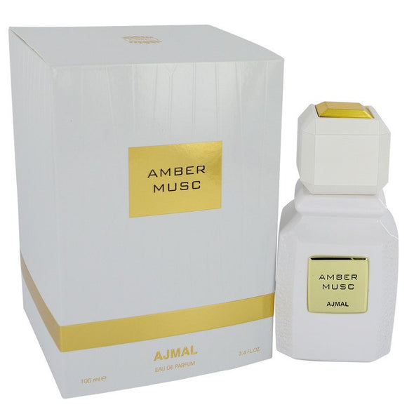 Ajmal Amber Musc 3.40 oz Eau De Parfum Spray (Unisex) For Women by Ajmal