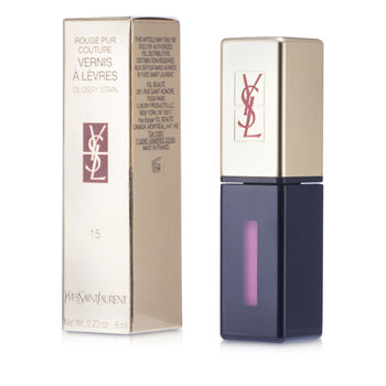 Yves Saint Laurent Lip Care Rouge Pur Couture Vernis a Levres Glossy Stain - # 15 Rose Vinyl For Women by Yves Saint Laurent