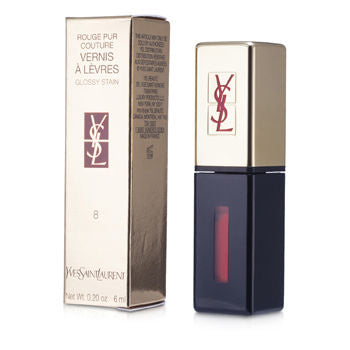 Yves Saint Laurent Lip Care Rouge Pur Couture Vernis a Levres Glossy Stain - # 8 Orange De Chine For Women by Yves Saint Laurent