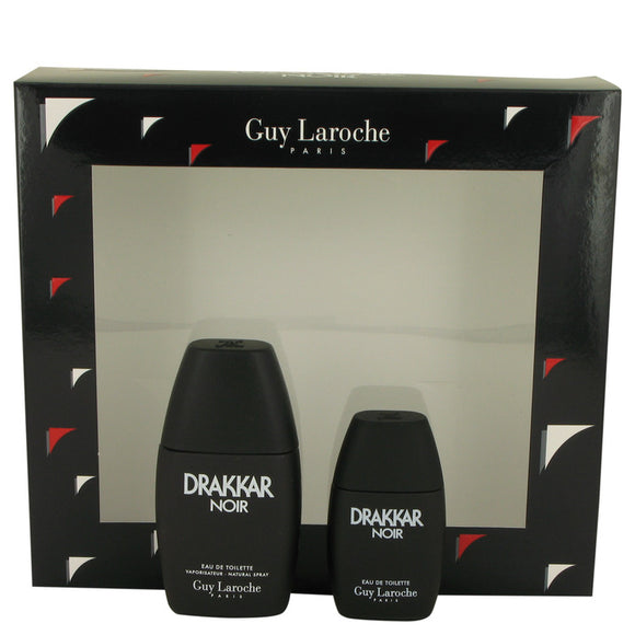 DRAKKAR NOIR Gift Set  1 oz Eau De Toilette Spray + .5 oz Mini EDT For Men by Guy Laroche
