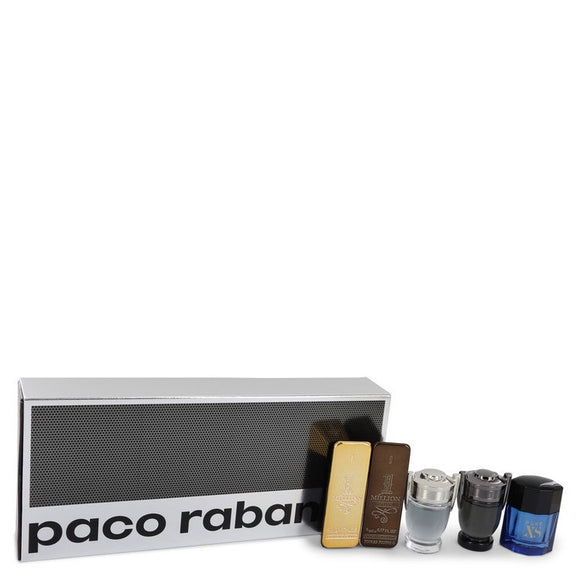 1 Million Prive Gift Set -  Travel Mini Set Includes 1 Million, 1 Million Prive, Invictus, Invictus Intense and Pure XS For Men by Paco Rabanne