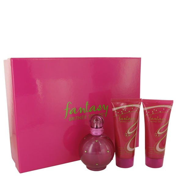 Fantasy Gift Set - 3.3 oz Eau De Parfum Spray + 3.3 oz Body Lotion + 3.3 oz Shower Gel For Women by Britney Spears