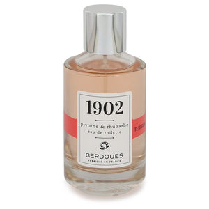 1902 Pivoine & Rhubarbe 3.38 oz Eau De Toilette Spray (Tester) For Women by Berdoues