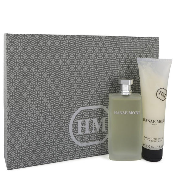 HANAE MORI Gift Set  3.4 oz Eau De Toilette Spray +5 oz After Shave Balm For Men by Hanae Mori