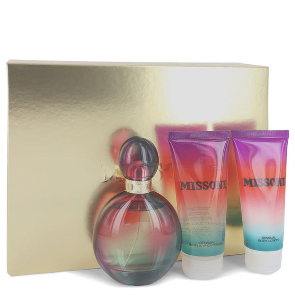 Missoni Gift Set  3.4 oz Eau De Parfum Spray + 3.4 oz Body Lotion + 3.4 oz Shower Gel For Women by Missoni