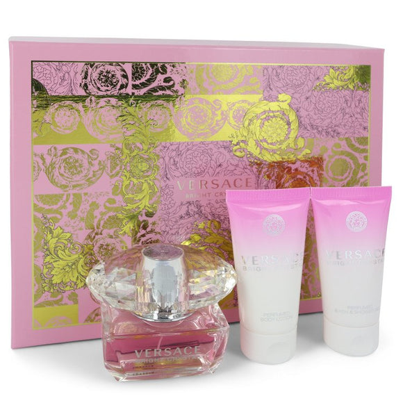 Bright Crystal 0.00 oz Gift Set  1.7 oz Eau De Toilette Spray + 1.7 oz Body Lotion + 1.7 oz Shower Gel For Women by Versace