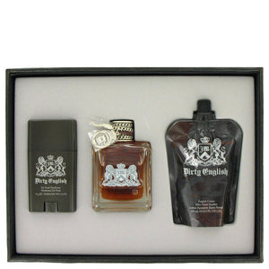 Dirty English Gift Set  3.4 oz Eau De Toilette Spray + 4.2 oz After Shave Soother + 2.6 oz Deodorant Stick For Men by Juicy Couture