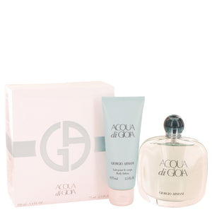 Acqua Di Gioia 0.00 oz Gift Set  3.4 oz Eau De Parfum Spray + 2.5 oz Body Lotion For Women by Giorgio Armani