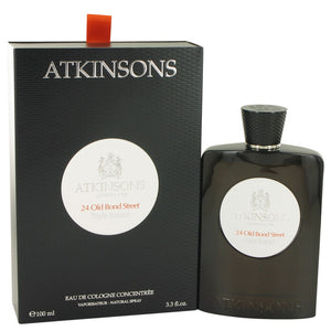 24 Old Bond Street Triple Extract 3.30 oz Eau De Cologne Concentree Spray For Men by Atkinsons