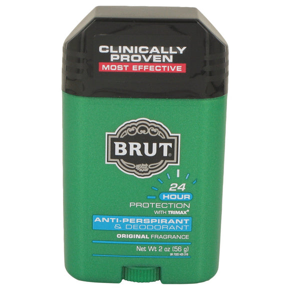 BRUT 2.00 oz 24 hour Deodorant Stick / Anti-Perspirant For Men by Faberge