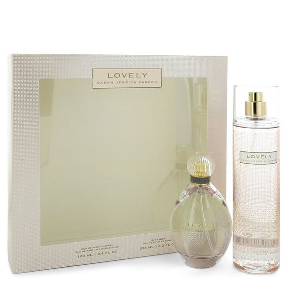 Lovely Gift Set  3.4 oz Eau De Parfum Spray + 8 oz Body Mist For Women by Sarah Jessica Parker
