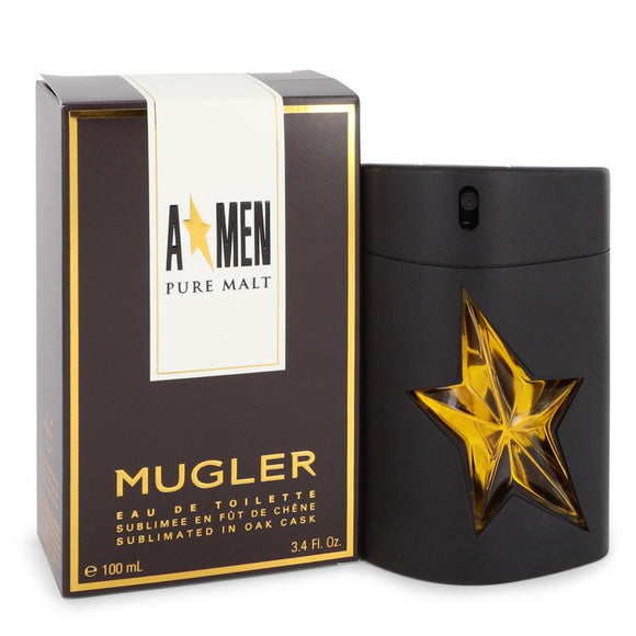 Angel Pure Malt 3.40 oz Eau De Toilette Spray (Limited Edition) For Men by Thierry Mugler