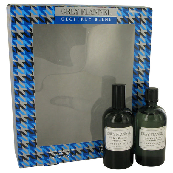 Grey Flannel Gift Set - 4 oz Eau De Toilette Spray + 3.4 oz After Shave Lotion For Men by Geoffrey Beene
