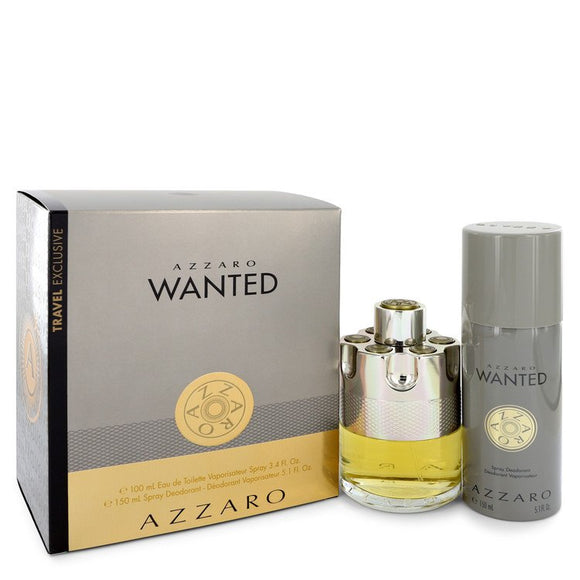 Azzaro Wanted 0.00 oz Gift Set  3.4 oz Eau De Parfum Spray + 5.1 oz Deodarant Spray For Men by Azzaro