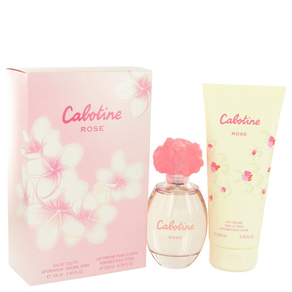 Cabotine Rose 0.00 oz Gift Set  3.4 oz Eau De Toilette Spray + 6.7 oz Body Lotion For Women by Parfums Gres