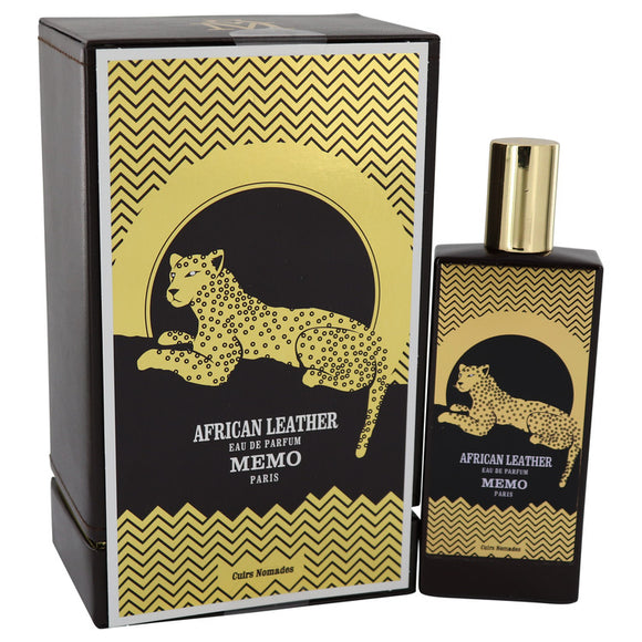 African Leather 2.50 oz Eau De Parfum Spray (Unisex) For Women by Memo