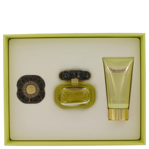 Covet 0.00 oz Gift Set  3.4 oz Eau De Parfum Spray + 2.5 oz Body Loiton + Perfume Compact For Women by Sarah Jessica Parker